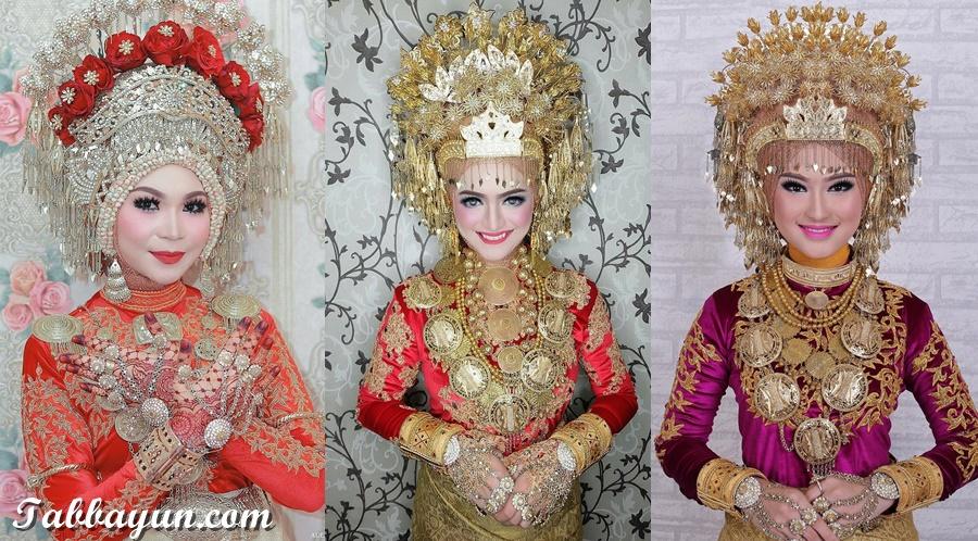 penutup kepala Pakaian Adat Aceh wanita