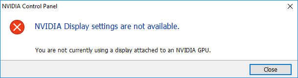 Fix NVIDIA Display Settings Are Not Available Error