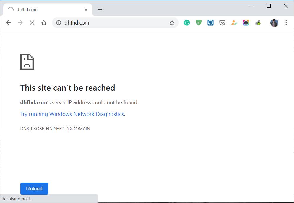 cara mengatasi This site can't be reached error di Google Chrome
