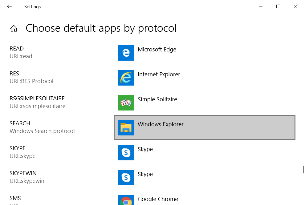 Make sure Windows Explorer is selected next to the SEARCH