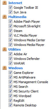 ccleaner cleaner settings