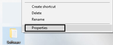 select properties by right clicking