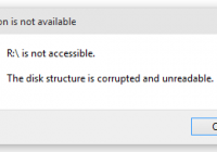 The Disk Structure is Corrupted and Unreadable
