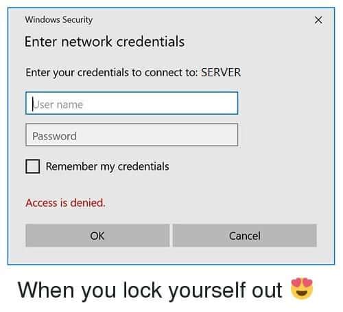 Fix Enter Network Credentials Error on Windows 10