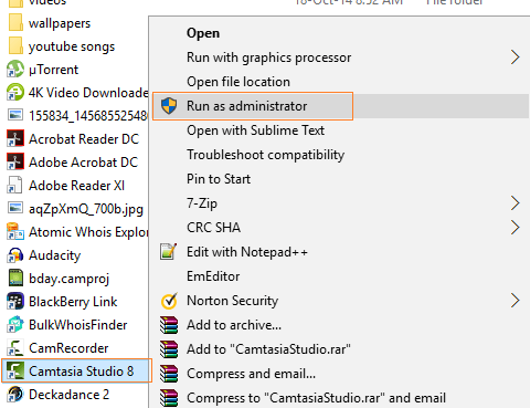 right click and run as administrator the program